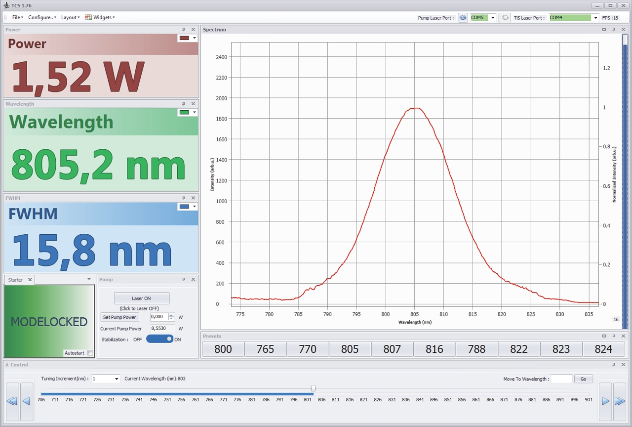 Скриншот главного окна программного обеспечения, входящего в комплектацию TiF-50 «Авто»