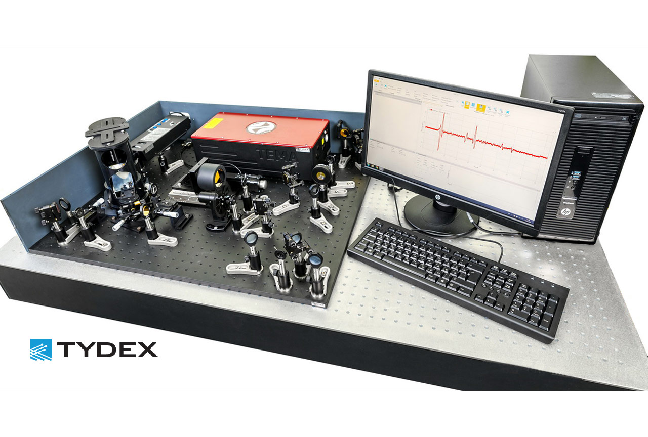 The TEMA laser is integrated in a THz TDS system manufactured by Tydex (www.tydexoptics.com)