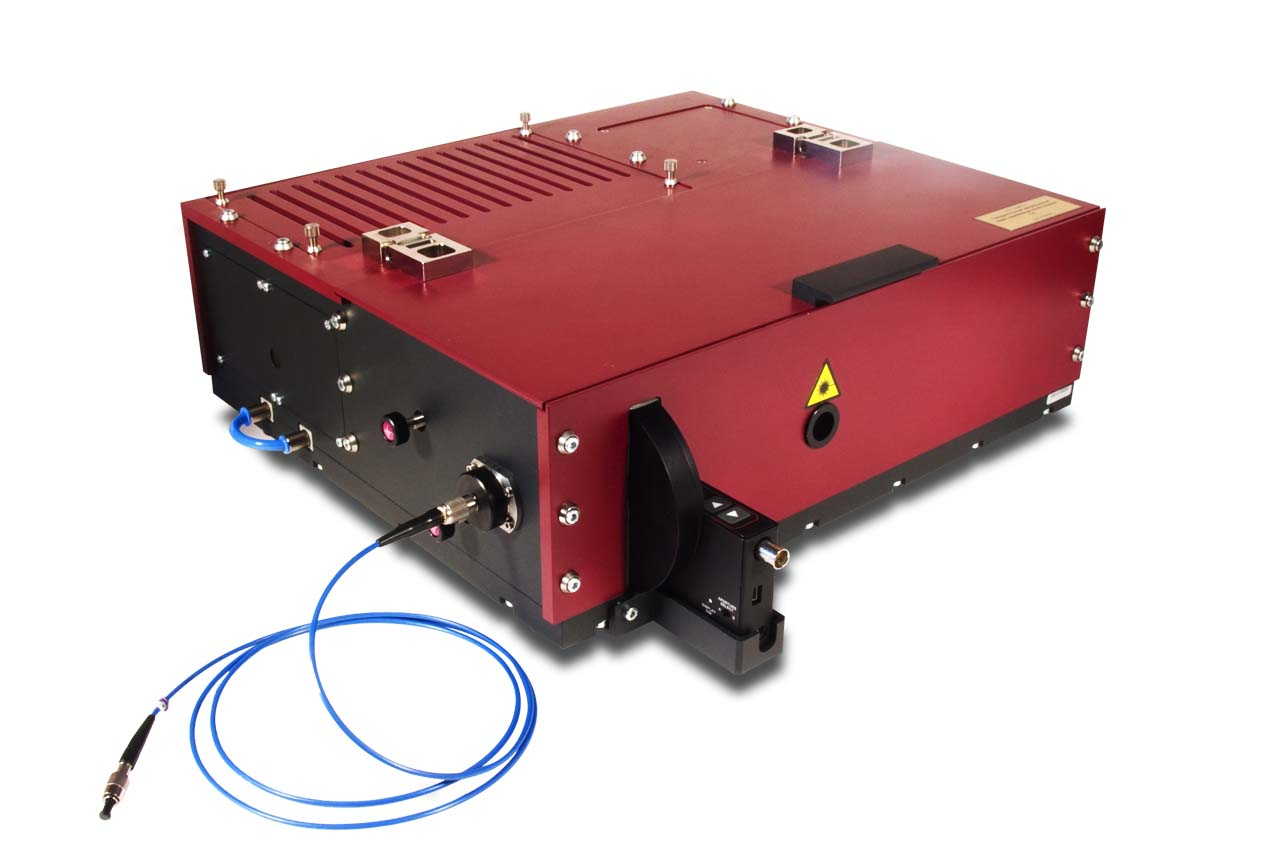 The TiC-FF solid-state Ti:S continuous wave fiber-coupled laser head (with USB wavelength tuning and optional filter wheel)