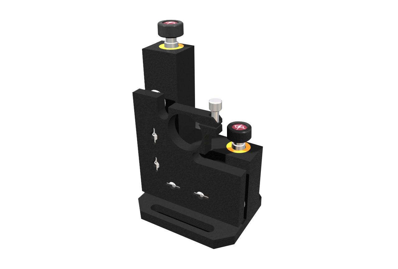 MMB-TRB. Большой вертикальный юстируемый держатель для оптики с винтами с круглыми ручками, правый