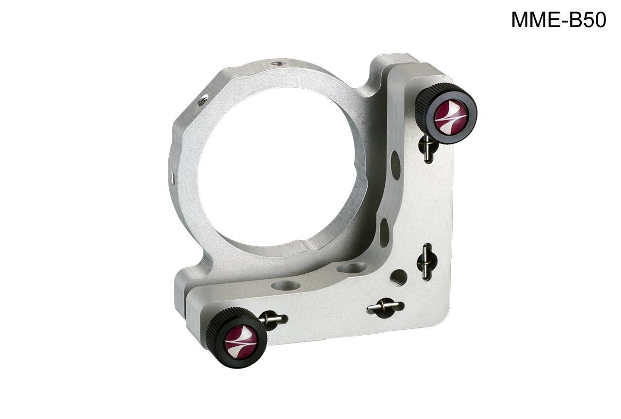 MME-B50. Усиленный юстируемый держатель с торцевым прижимом оптики, с винтами с круглыми ручками