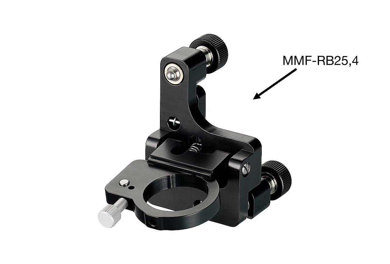 MMF-RB. Средний откидной юстируемый держатель для оптики с винтами с круглыми ручками, правый. В откинутом положении