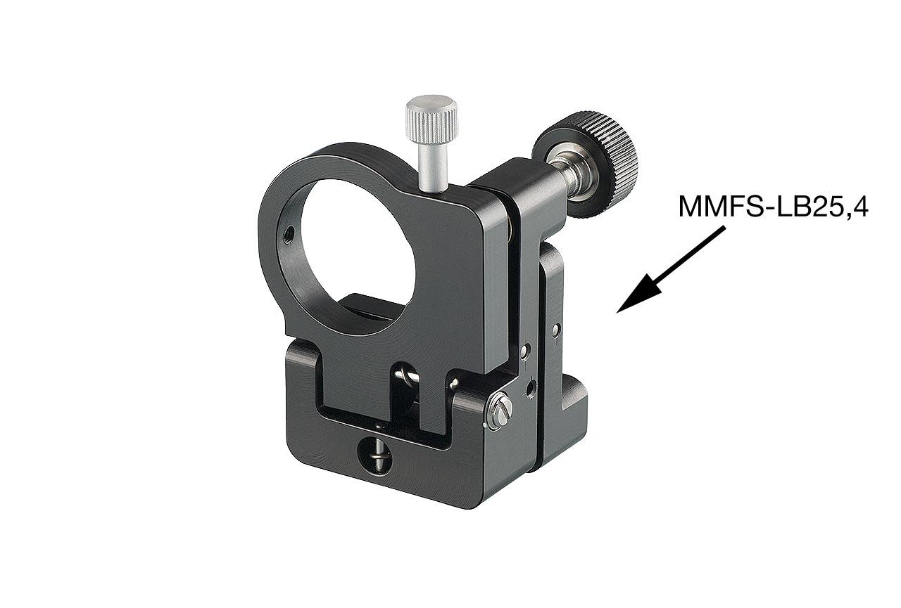 MMFS-LB. Малый откидной юстируемый держатель для оптики с винтами с круглыми ручками, левый