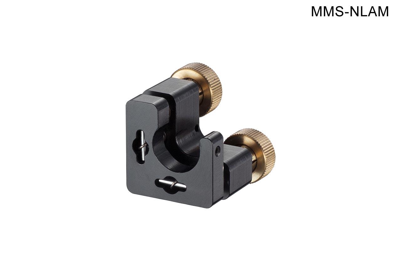 MMS-NLAM. Малый юстируемый держатель для оптики с прорезью, с потайными винтами с фиксацией, левый