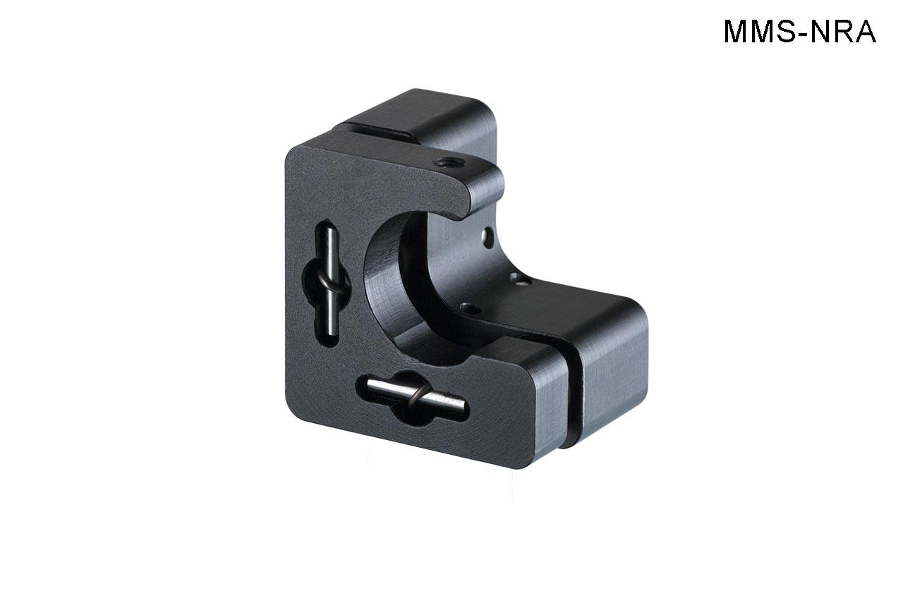 MMS-NRA. Малый юстируемый держатель для оптики с прорезью, с потайными винтами, правый