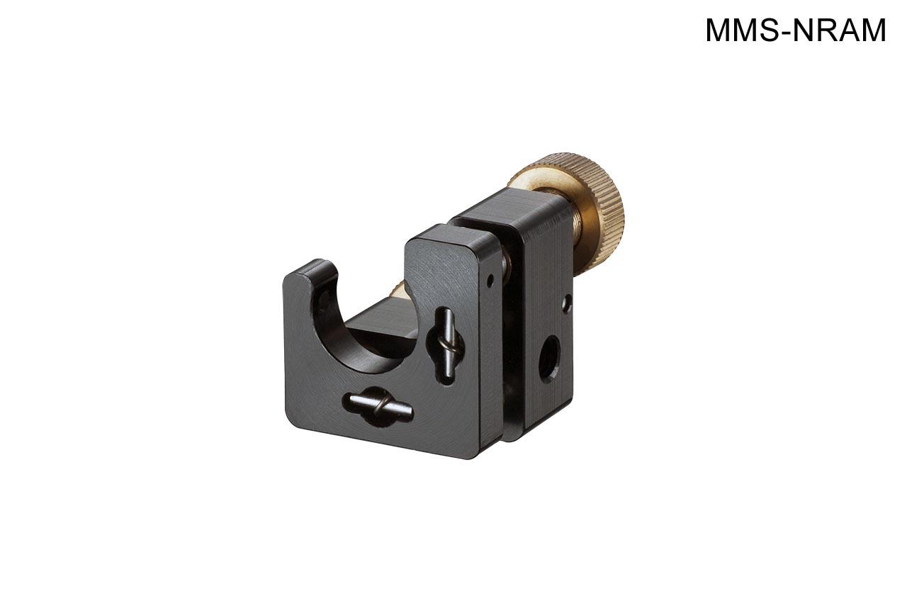 MMS-NRAM. Малый юстируемый держатель для оптики с прорезью, с потайными винтами с фиксацией, правый