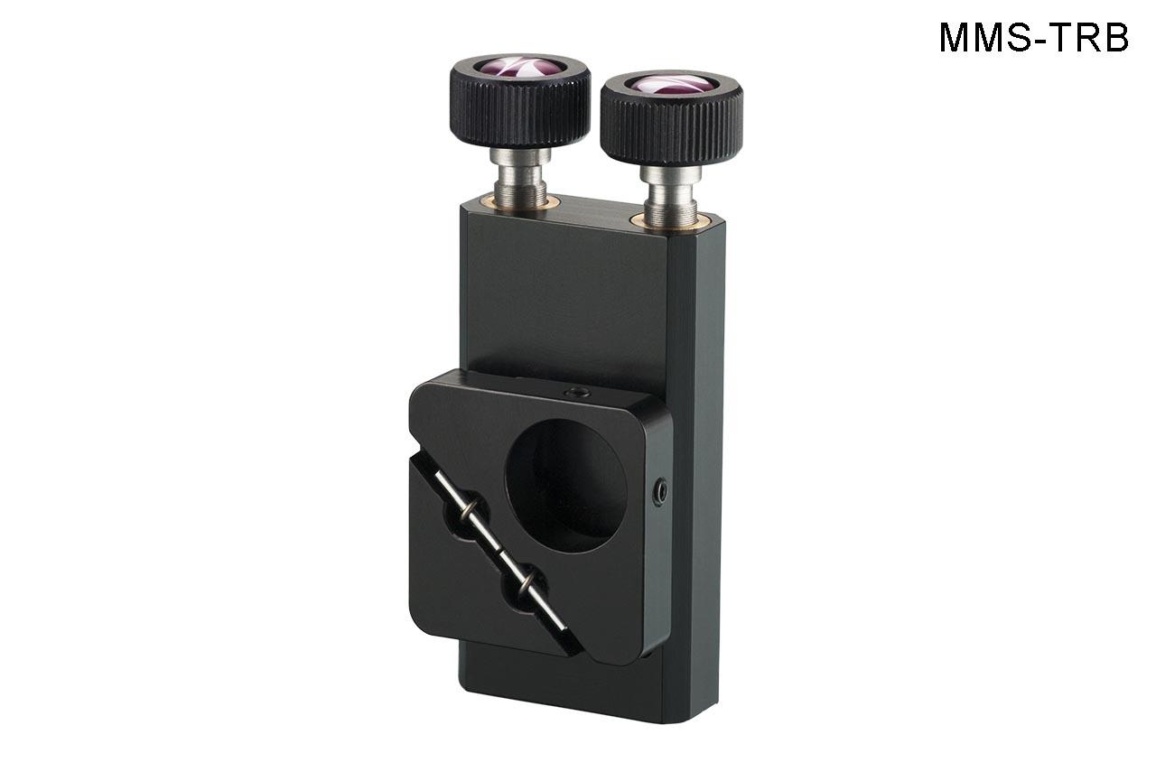 MMS-TRB. Малый вертикальный юстируемый держатель для оптики с винтами с круглыми ручками, правый