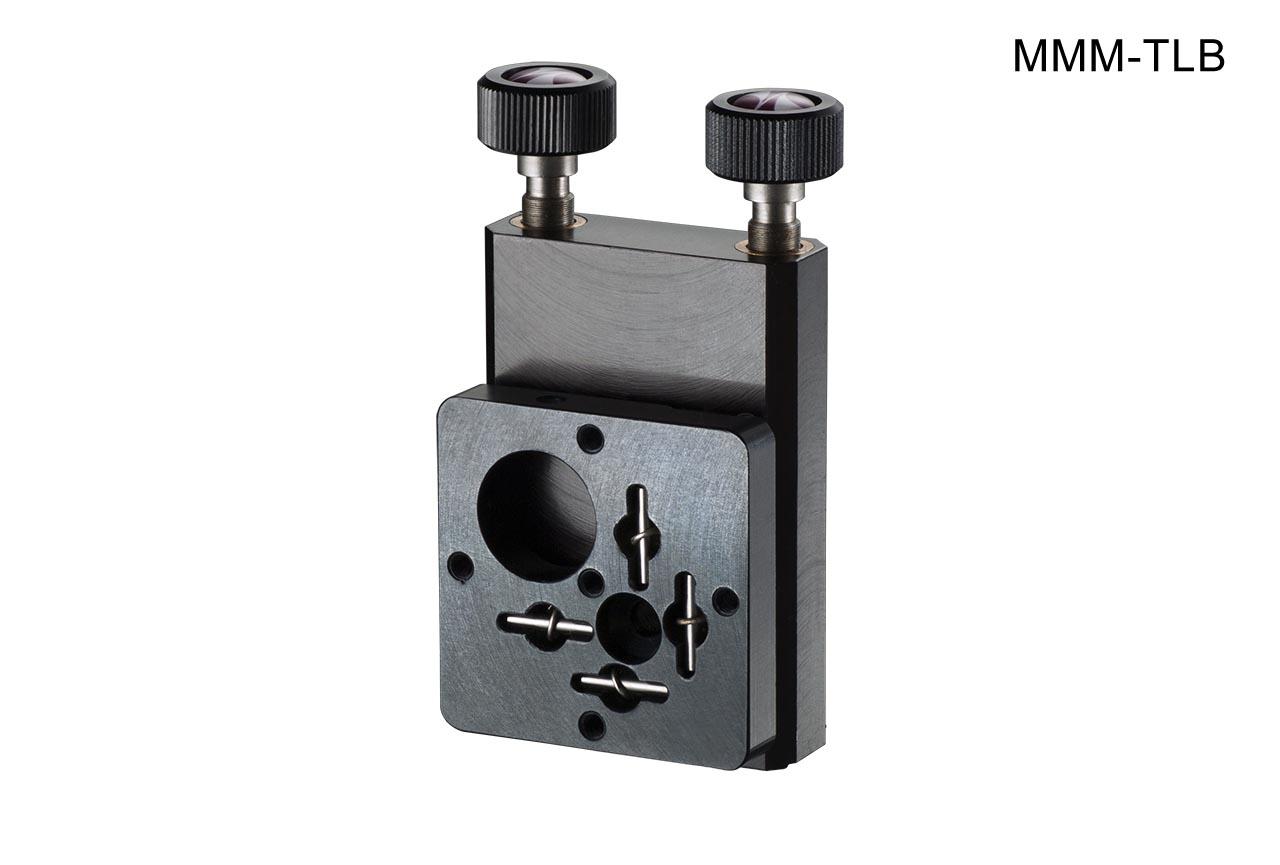 MMM-TLB. Средний вертикальный юстируемый держатель для оптики с винтами с круглыми ручками, левый