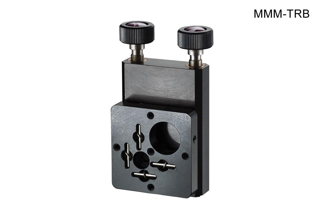 MMM-TRB. Средний вертикальный юстируемый держатель для оптики с винтами с круглыми ручками, правый