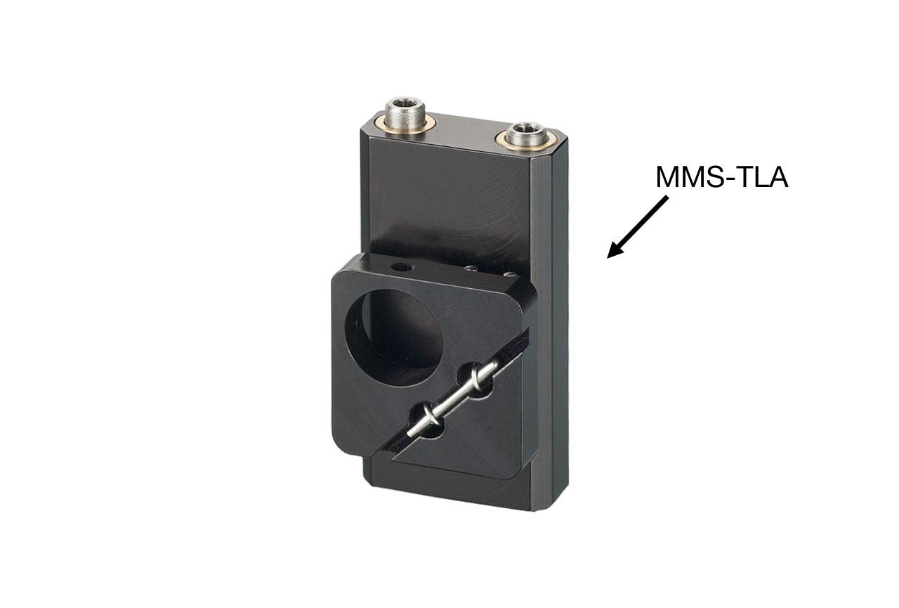 MMS-TLA. Малый вертикальный юстируемый держатель для оптики с потайными винтами, левый