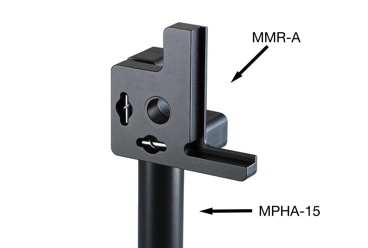 MMR-A. Регулируемый держатель поляризатора с потайными винтами. На дюралевом установочном стержне Ф15 мм