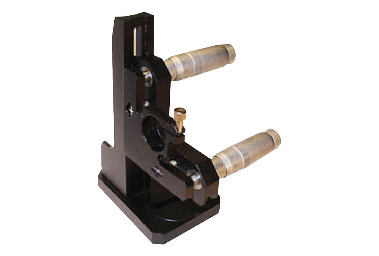 MMB-RKV. Большой прецизионный юстируемый держатель с варьируемой высотой установки оптики, правый