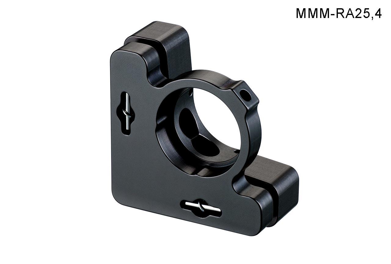 MMM-A25.4-k. Средний юстируемый держатель с буртиком и торцевым прижимом оптики, с потайными винтами