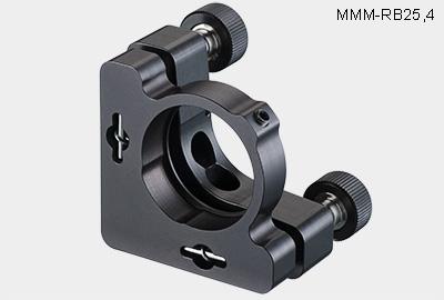 MMM-B30-k. Средний юстируемый держатель для оптики с буртиком и торцевым прижимом оптики, с винтами с круглыми ручками