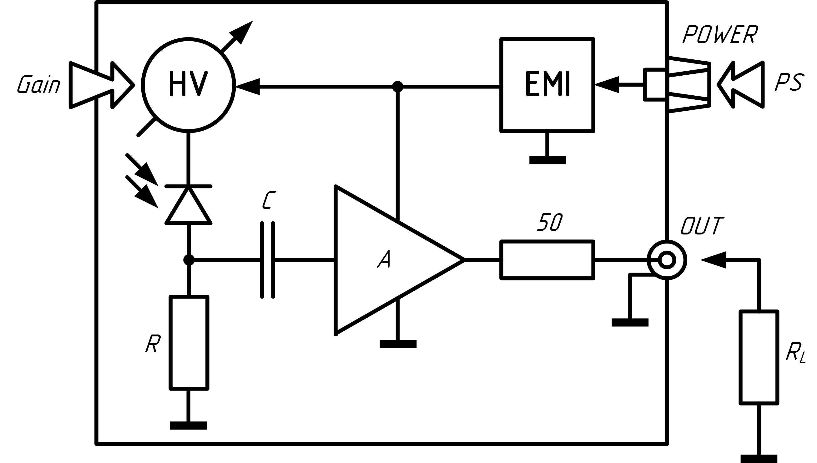 Схема фотоприемника ODAv-02B